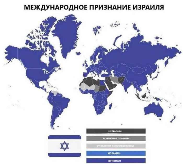 Кто НЕ признаёт Израиль