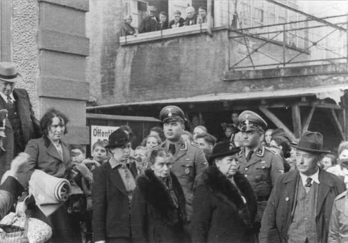 Депортация евреев. Леррах, Германия