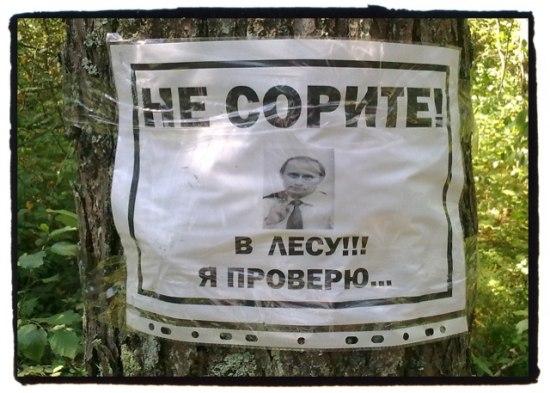 Не сорите! Путин проверит!
