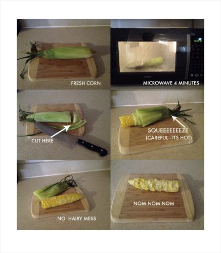 Как приготовит кукурузу в микроволновке