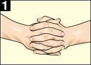 1. Сплетите пальцы рук в замок...