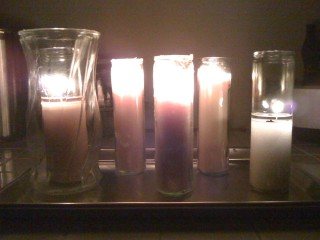 Five! Five lit candles! AH HA HA HA HA!
