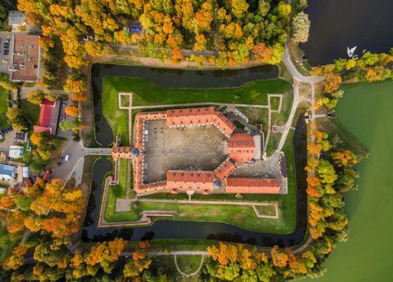 Несвижский замок сверху