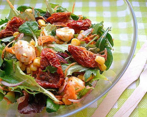 рецепт салата фасоль с помидорами