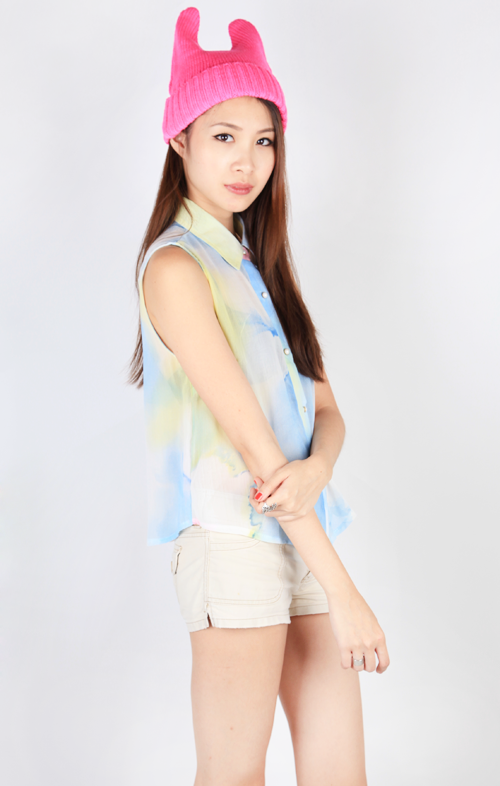 WATERCOLOR SLEEVELESS BLOUSE - MULTI4