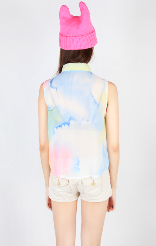 WATERCOLOR SLEEVELESS BLOUSE - MULTI5