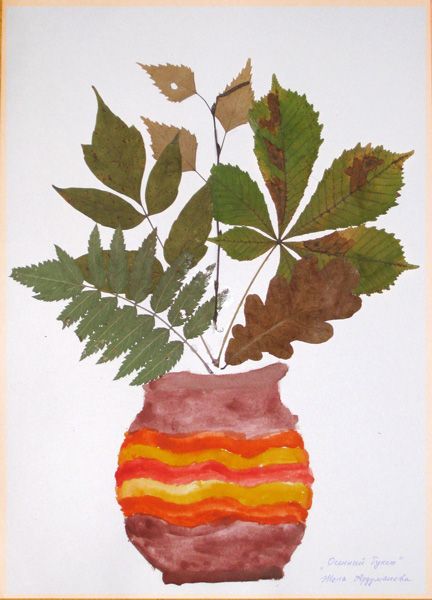 Оригинальный гербарий из листьев фото 99