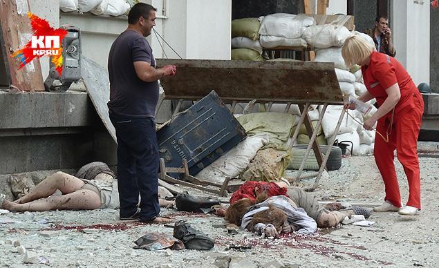 7 погибшие у Дома Правительства в Луганске