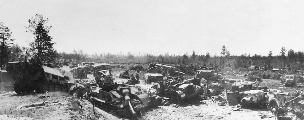 Globinskoe Shosse na podstupsh k Minsku 1944