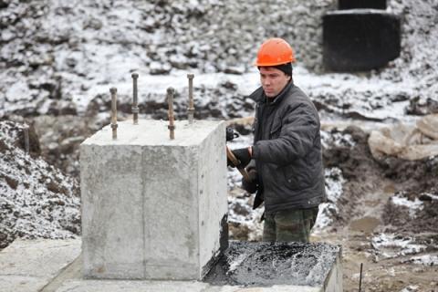 Строительство ледового дворца идёт быстрыми темпами