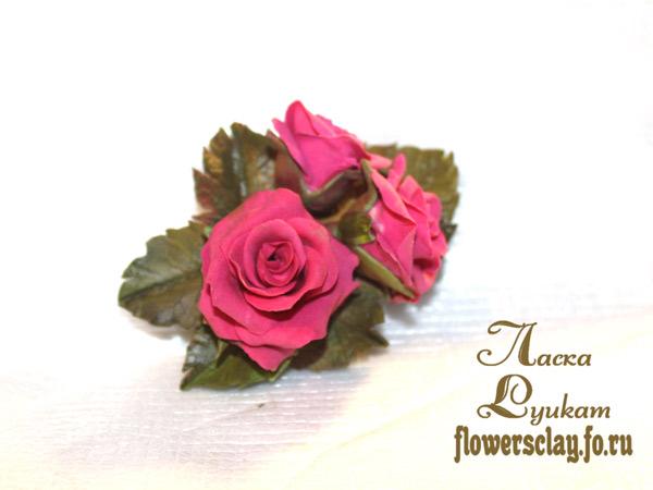 малиновые-розы-брошь-или-зажим