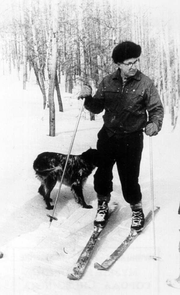 Забабахин на лыжах