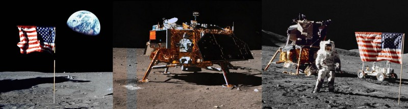 Сравнение цвета грунта на фотографиях с китайского лунохода и программы Аполло