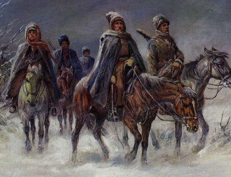 картинки с сибирскими казаками нее
