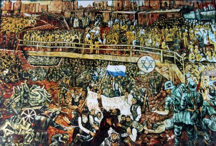 Восстание в Варшавском гетто (1943) в произведениях живописи.