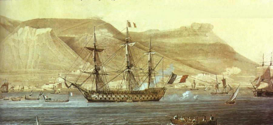 Флагманский корабль французской эскадры Ориент..jpg