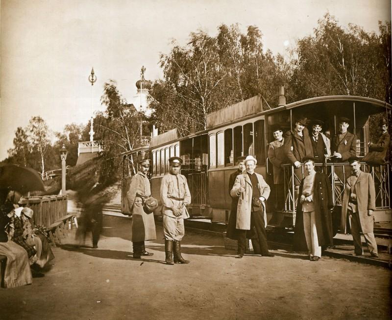 Паровой трамвай на Воробьевых горах.