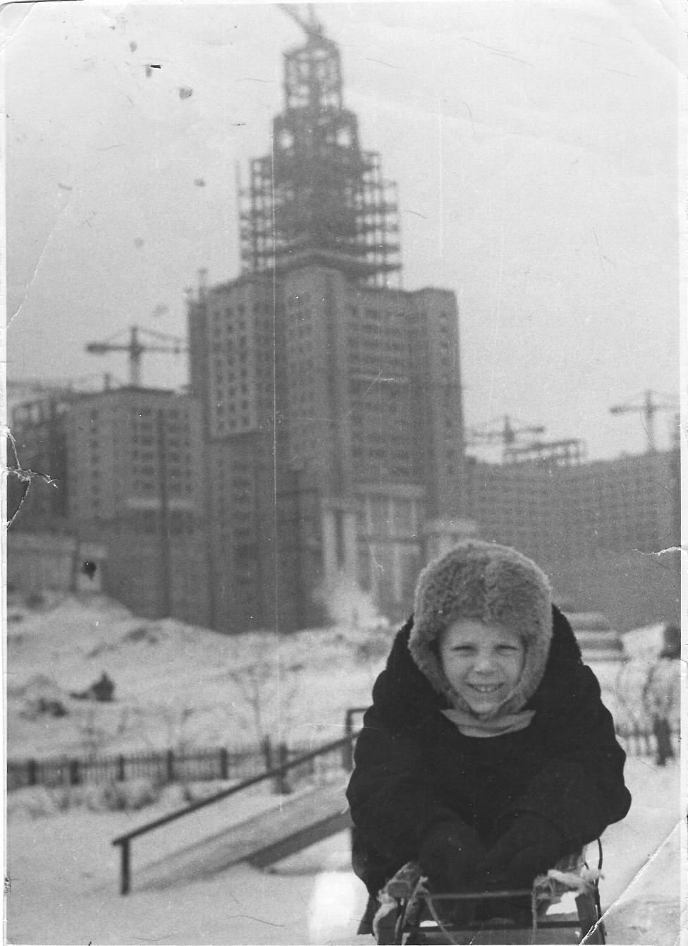 На детской площадке. 1950-51.