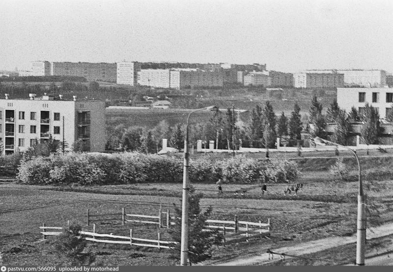 Вспашка на лошади и выгул для лошади в 1967 году на месте современного болгарского посольства. На дальнем плане - Кутузовский проспект.