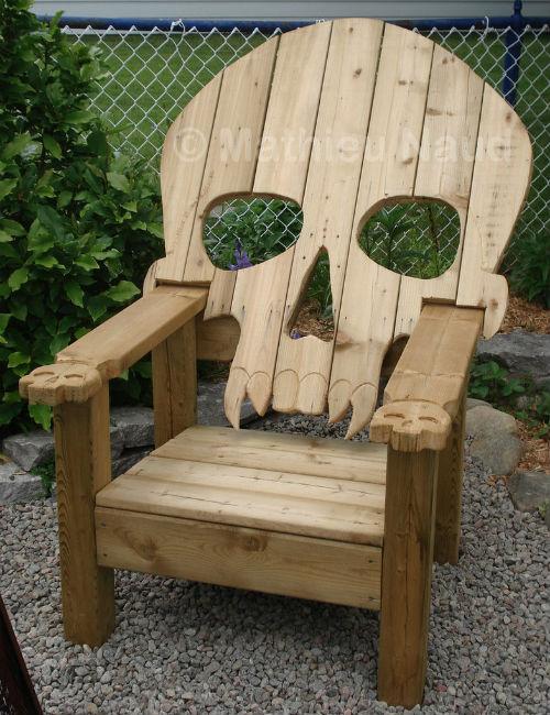 Skull-Adirondack-Chair