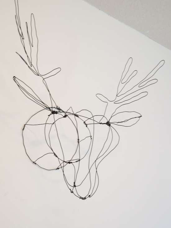 wire deer head