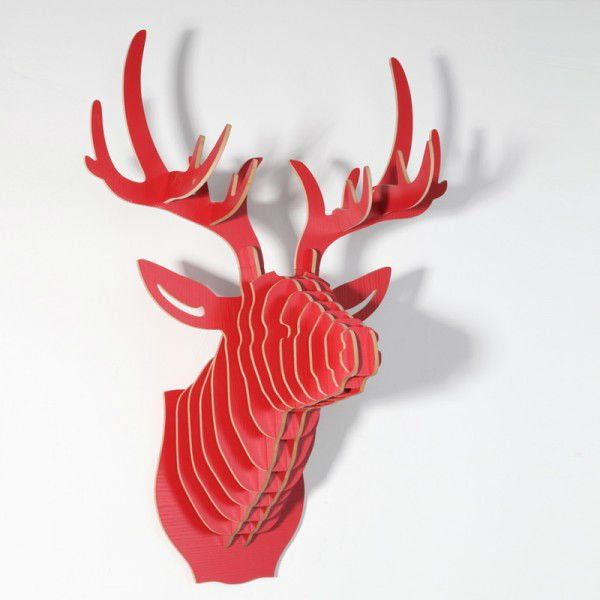Simulation_animal_wall_home_decoration_wooden_handicrafts_Bucks_head