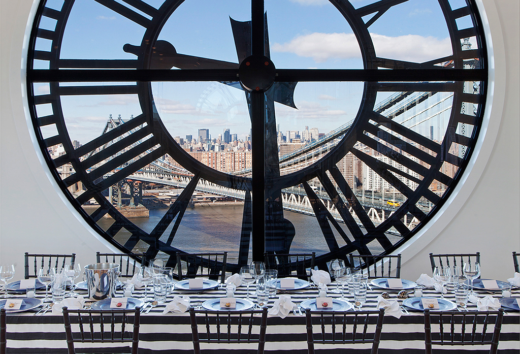 Clock-Tower-Apartment-formal-dining-against-clockface-backdrop-with-views-to-New-York-City