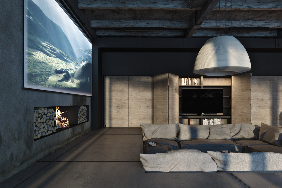 5-Industrial-style-living-room