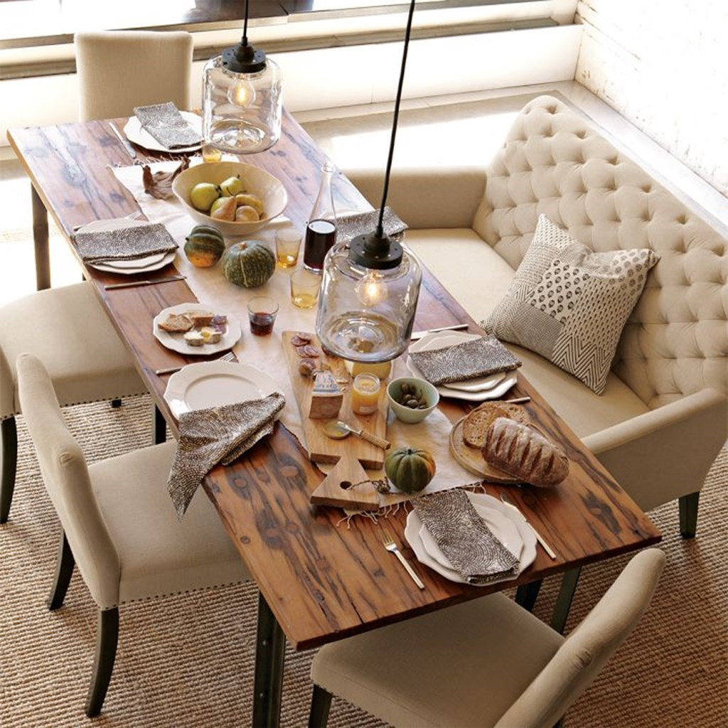 Dining room with settee
