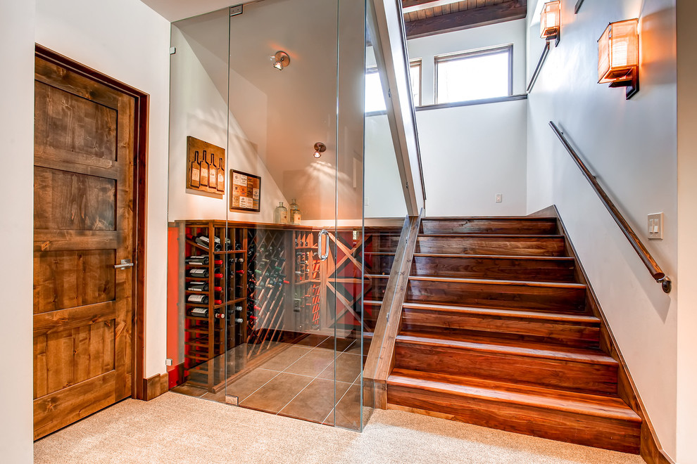 Fabulous-Small-Wine-Cellar-Ideas-for-Staircase-Contemporary-design-ideas-with-Fabulous-asian-sconce-japanese