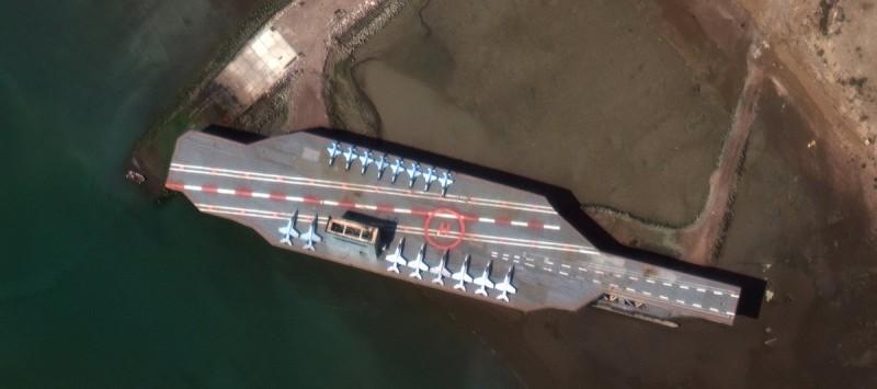 Иранцы обстреляли и захватили авианосец типа Nimitz