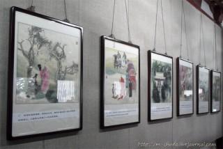 Картины на стенах рассказывают о любви императора и леди Янг