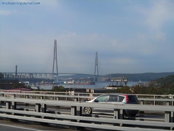 Владивосток. Дорога и мост на о.Русский.