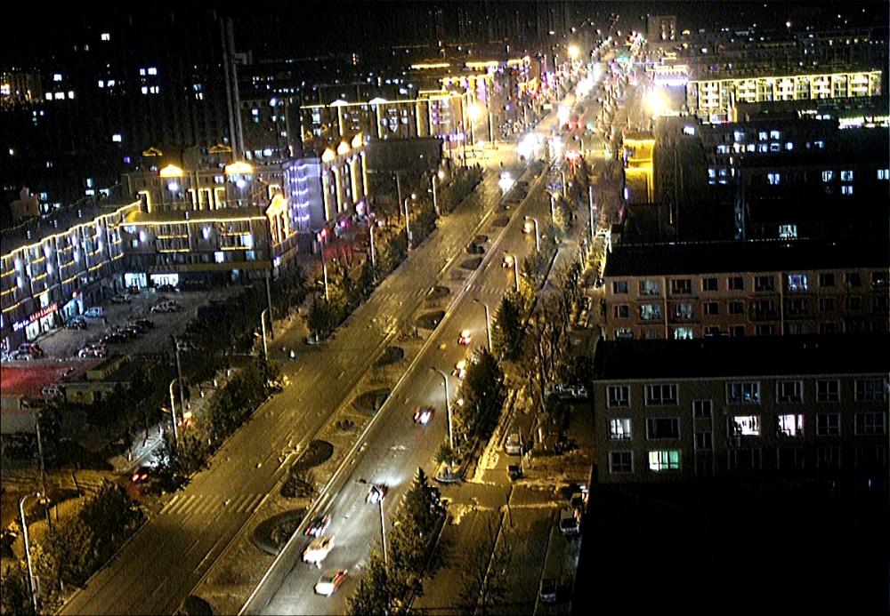 Ночные новогодние улицы.