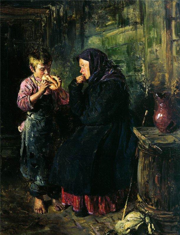 """Маковский В.М. \\""""Свидание\\"""" 1883 год"""