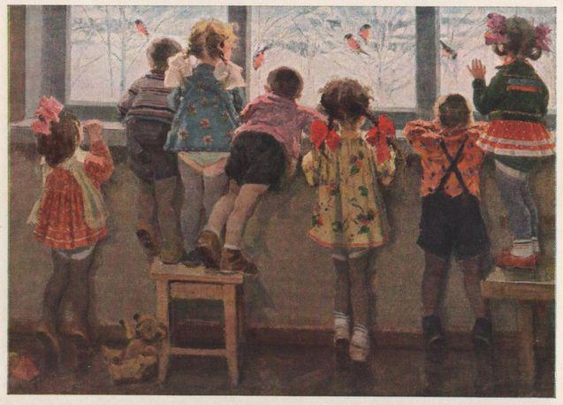 Н.И. Ульянов Снегири Детский сад 1964.jpg