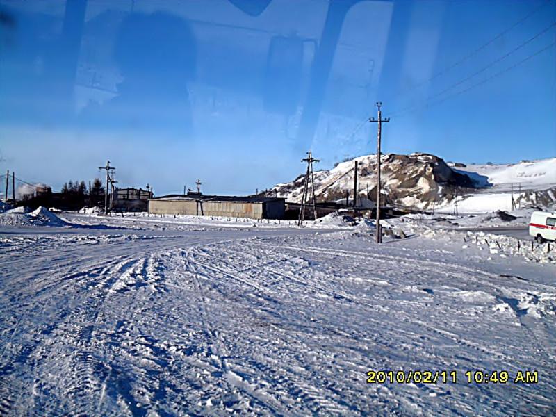 Камчатка Тиличики стадион зима 2010