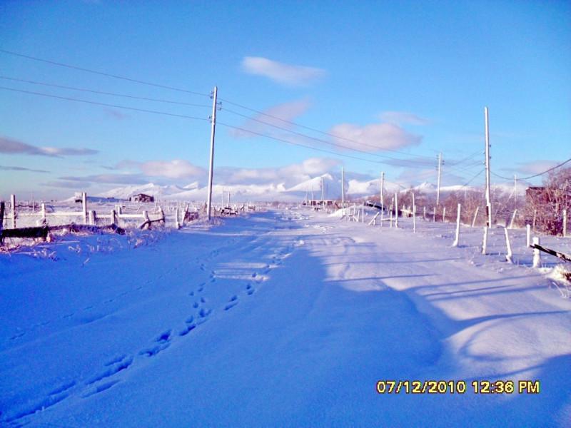 Камчатка Пахачи декабрь 2010 дорога снег