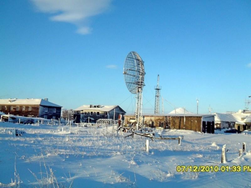 Камчатка зима 2010 Пахачи радиорелейная антенна