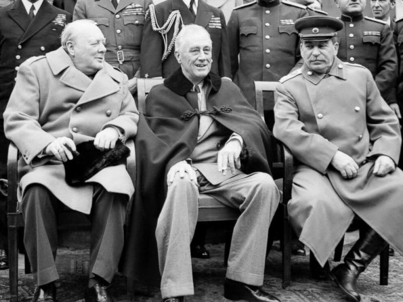 Ялта конференция Большая тройка