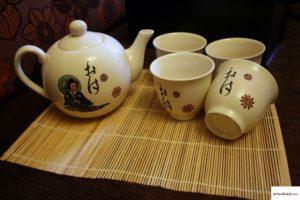Китайский чайный сервиз на 4 персоны