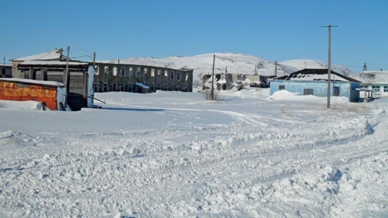Центр села Пахачи весна 2010 г.