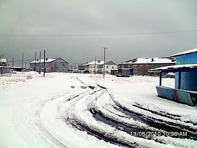 Центр села Пахачи Камчатский край весна 2010