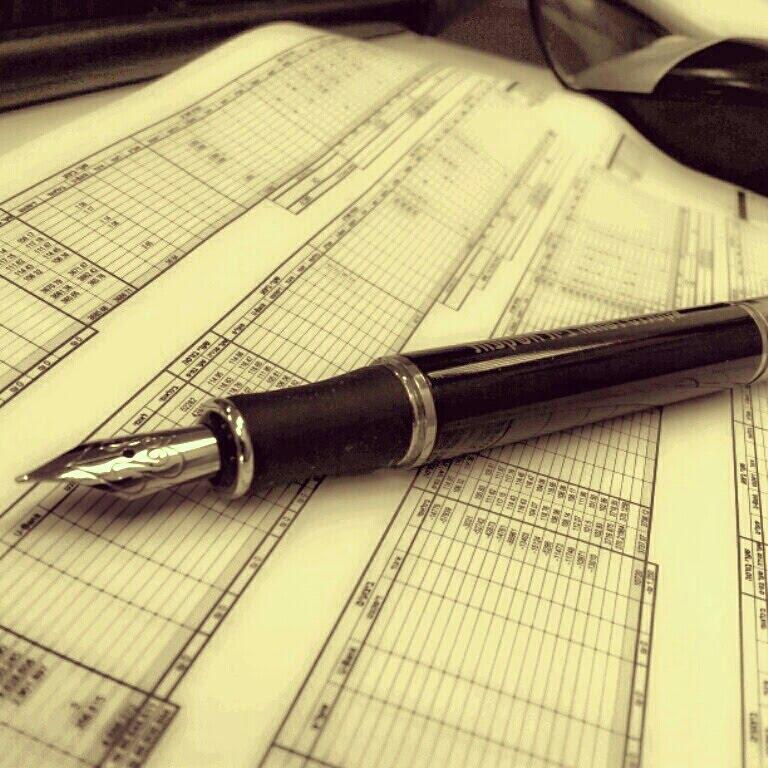 Ручка с пером и excel ....