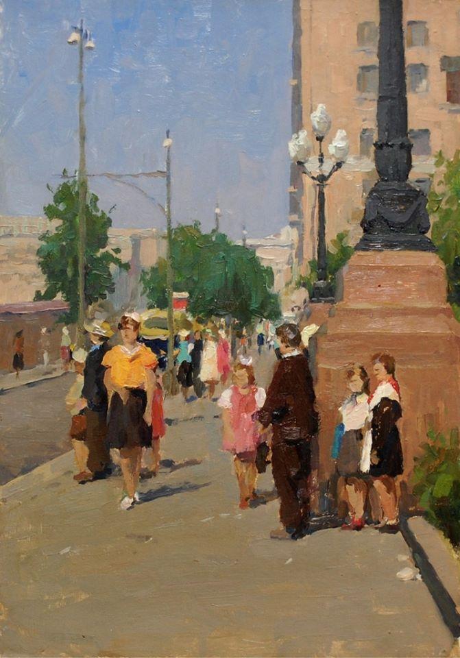 Новопесчаная, 1950-е годы. Петров Юрий Дмитриевич.