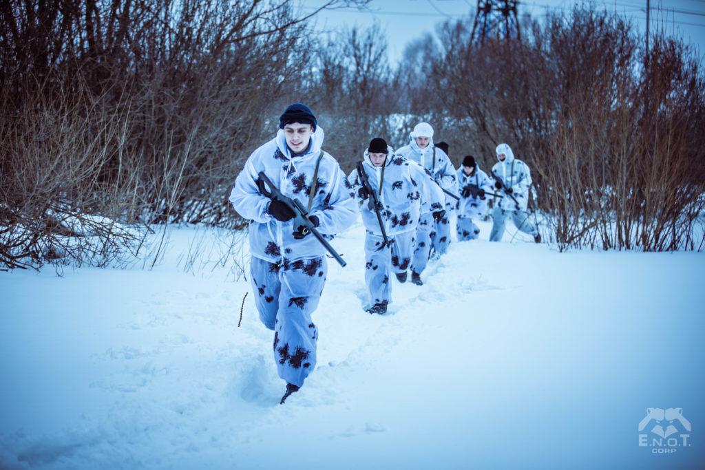 Батальон в снегах