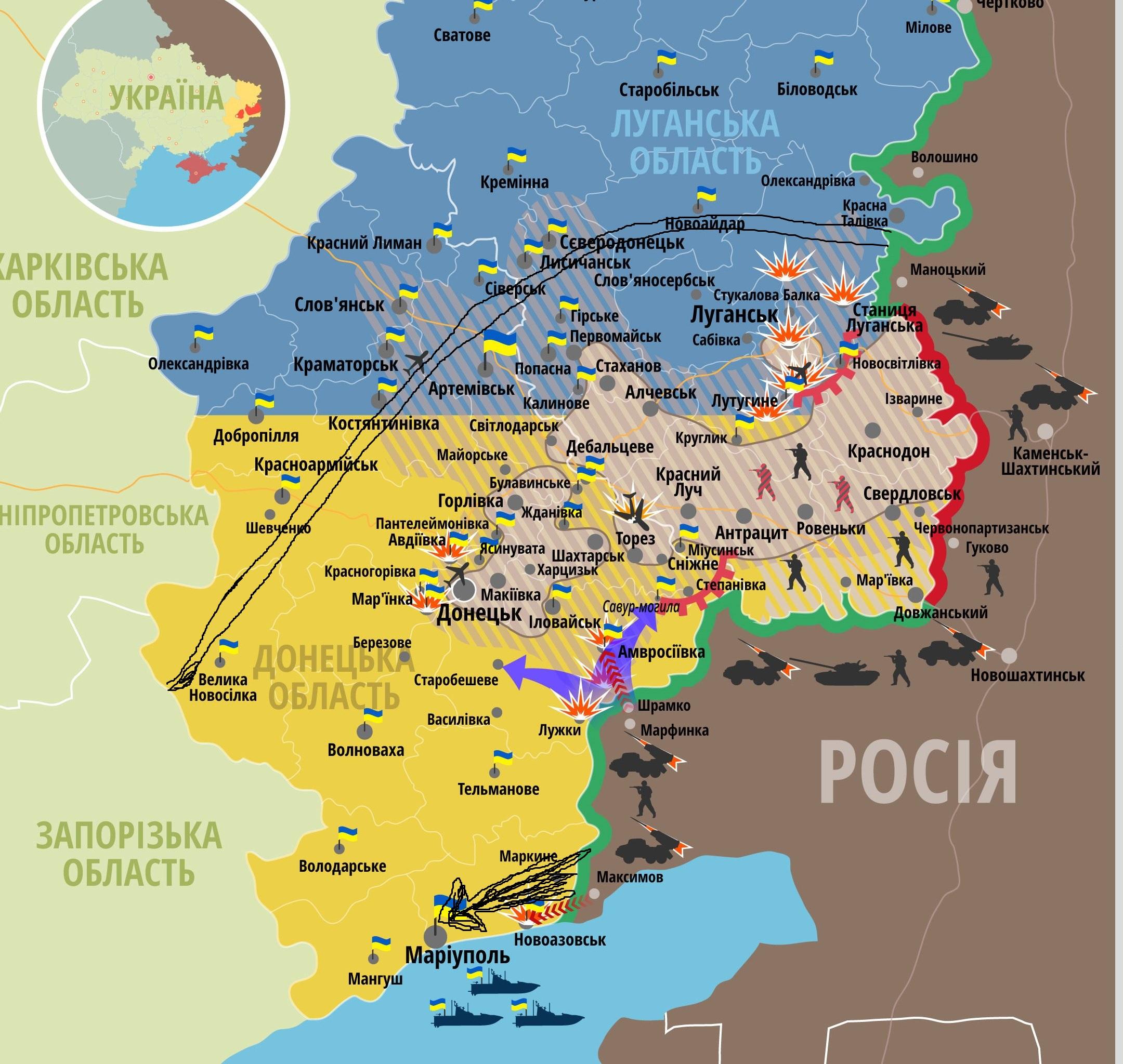 карта окр