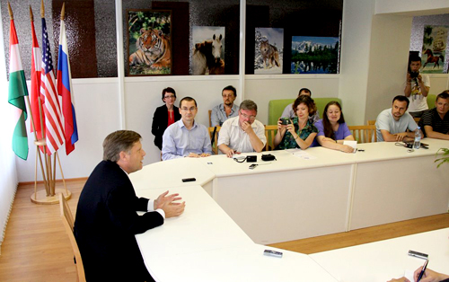 I invited all interested Yekaterinburg residents to come meet me at the American Center – we had a great discussion
