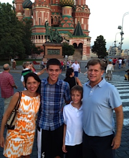 With my family on Red Square