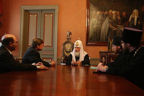 На встрече с Его Святейшеством Патриархом Кириллом I